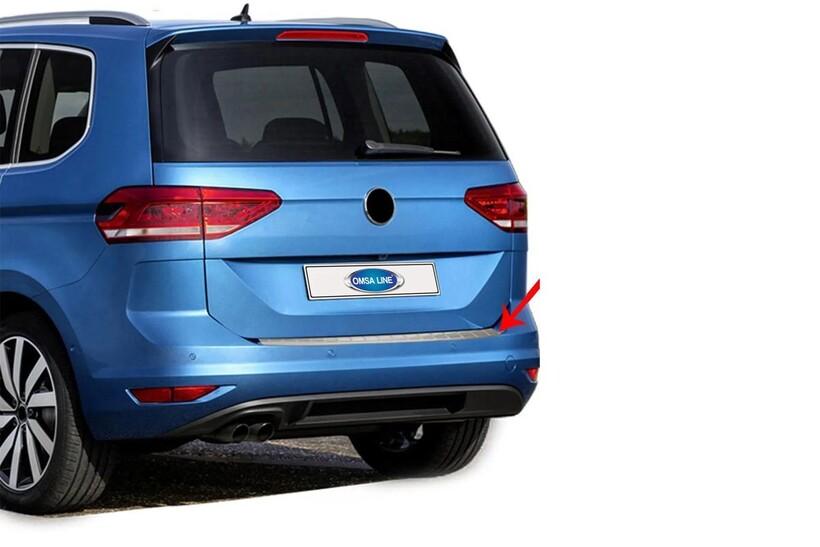 Krom Aksesuar » Omsa - VW Touran Krom Arka Tampon Eşiği Taşlı 2015 ve Sonrası