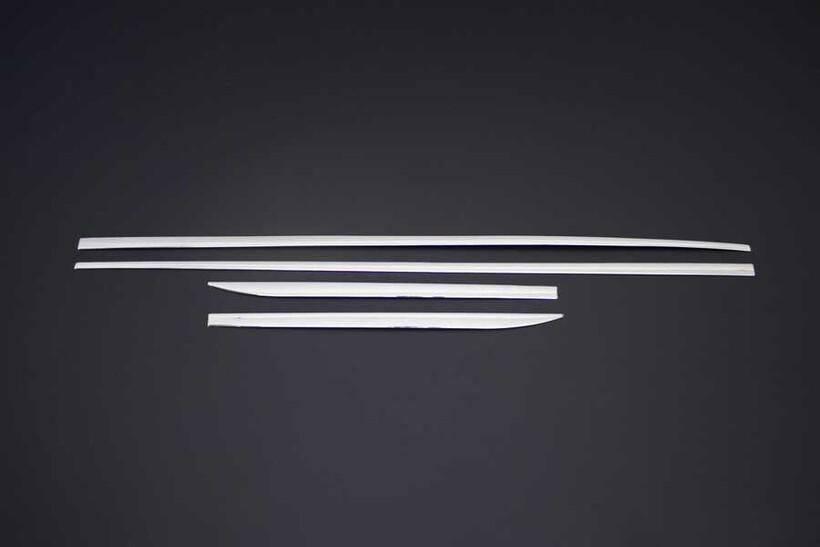 Krom Aksesuar » Omsa - Audi A3 Sportback Krom Yan Kapı Çıtası 4 Parça 2012-2020 Arası