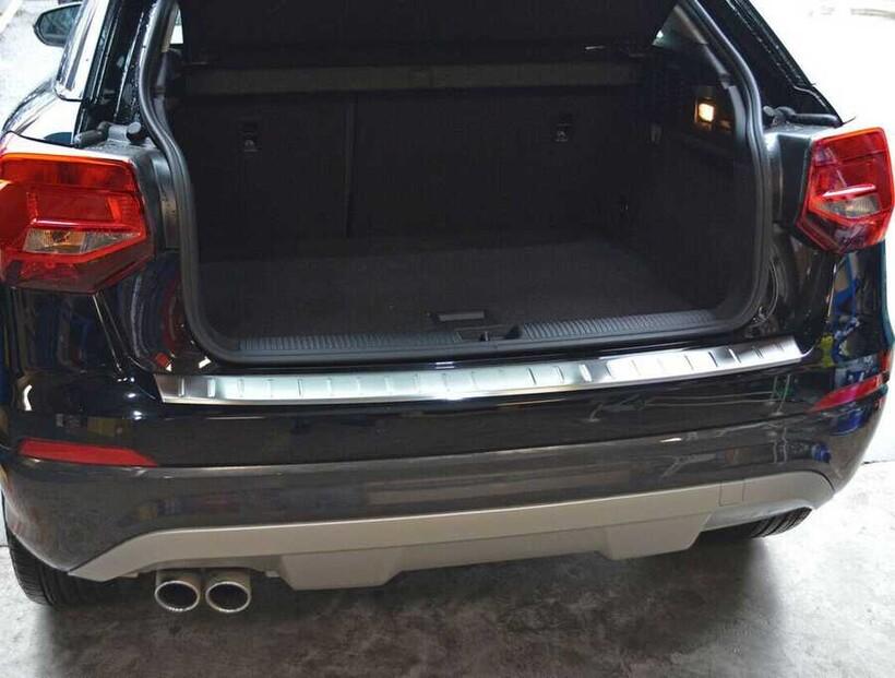 Krom Aksesuar » Omsa - Audi Q2 Krom Arka Tampon Eşiği Taşlı 2016 ve Sonrası