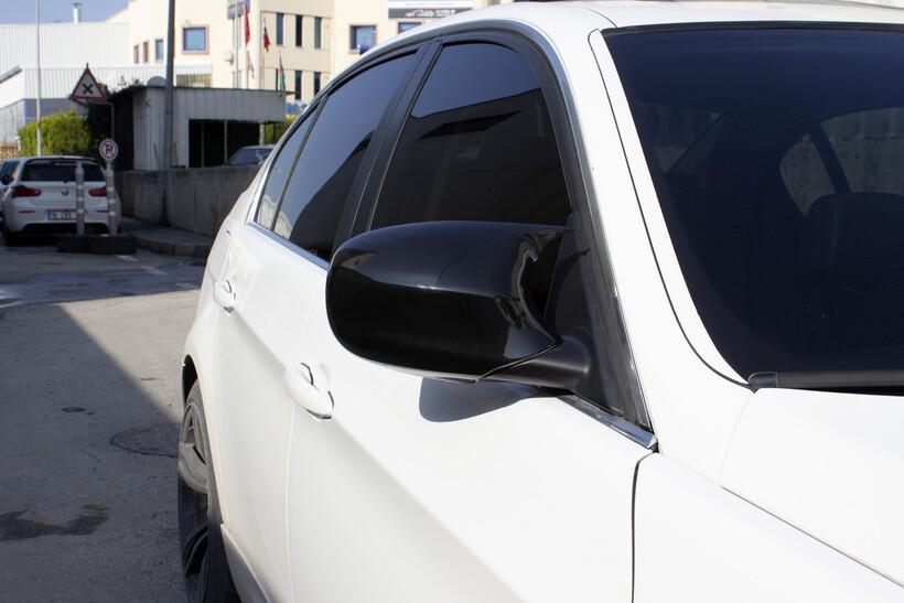 Body Kit » Plastik - BMW E90 3 Serisi Yarasa Ayna Kapağı Batman Piano Black ABS 2008-2011 Arası