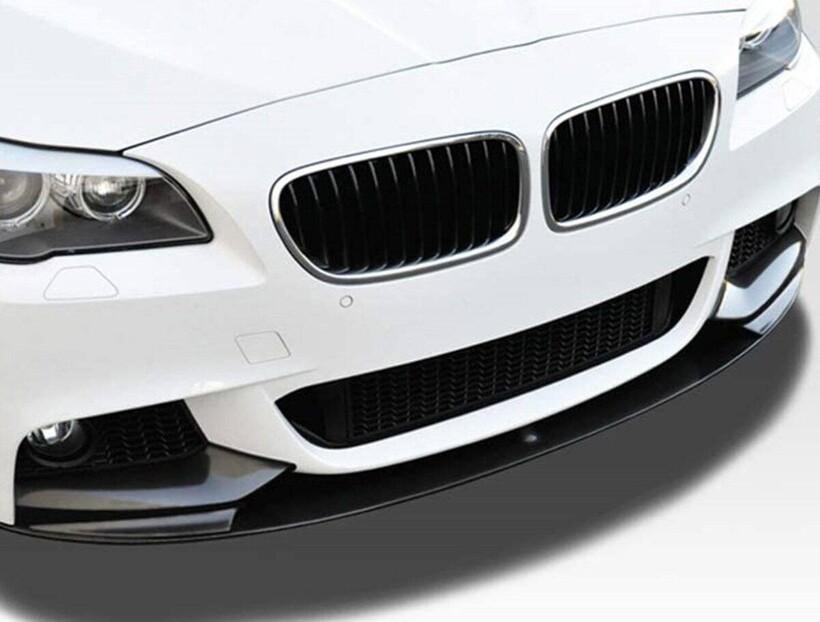 Body Kit » Plastik - BMW F10 5 Serisi Ön Lip (M Performance) Piano Black ABS 2010-2017 Arası