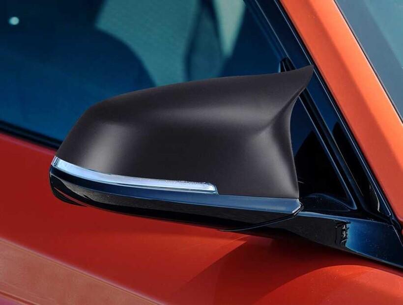 Body Kit » Plastik - BMW F20 1 Serisi M1 Yarasa Batman Ayna Kapağı Mat Siyah