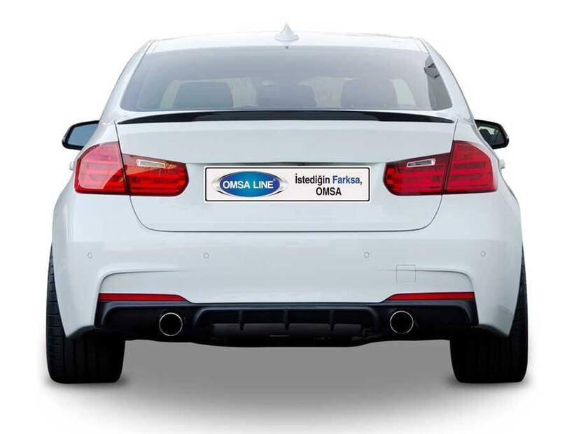 Body Kit » Plastik - BMW F30 3 Serisi M Performance Bagaj Üstü Spoiler 2012-2018 Arası