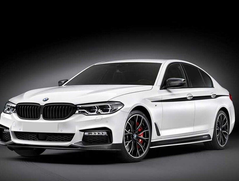 Body Kit » Plastik - BMW F30 3 Serisi MPerformance Marşpiyel Eki Piano Siyah ABS 2 Parça 2011 ve Sonrası