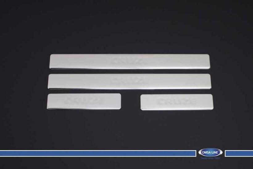 Krom Aksesuar » Omsa - Chevrolet Cruze Krom Kapı Eşiği 4 Parça 2009 ve Sonrası