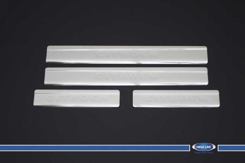 Krom Aksesuar » Omsa - Citroen C4 Krom Kapı Eşiği 4 Parça 2004-2010 Arası