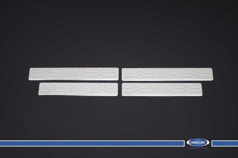 Krom Aksesuar » Omsa - Citroen C4 Krom Kapı Eşiği 4 Parça 2010-2020 Arası
