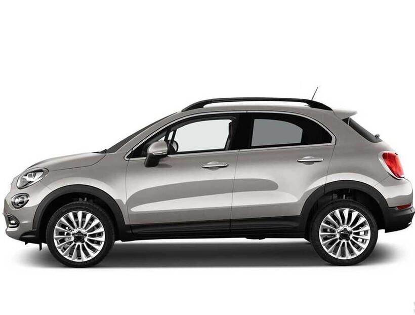 Tavan Çıtaları - Fiat 500X Solid Tavan Çıtası Siyah Yapıştırma 2015 ve Sonrası