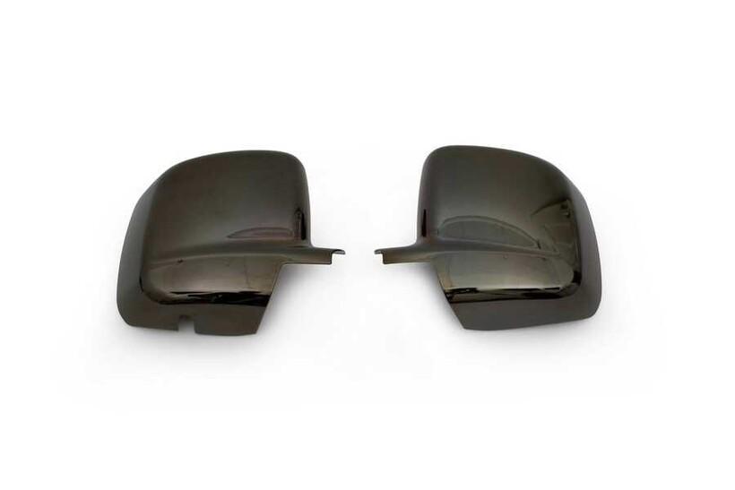 Krom Aksesuar » Omsa - Fiat Fiorino/Qubo Siyah Krom Ayna Kapağı 2 Parça Abs 2007 ve Sonrası
