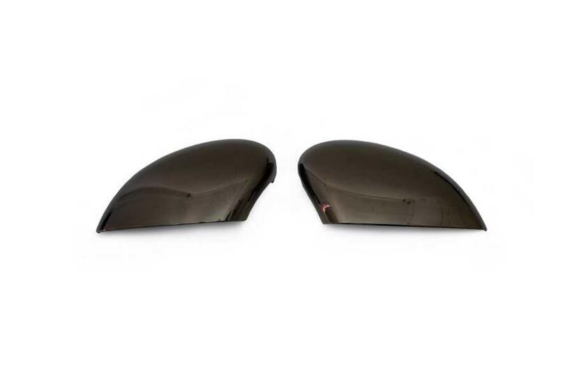 Krom Aksesuar » Omsa - Ford Fiesta 6 Siyah Krom Ayna Kapağı 2 Parça Abs 2009-2017 Arası