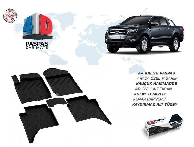 4D Paspas - Ford Ranger 4D Havuzlu Paspas 2011 ve Sonrası