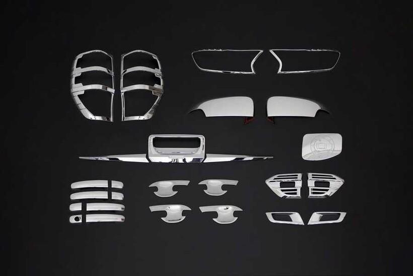 Krom Aksesuar » Omsa - Ford Ranger Wiltrack Krom 9'lu Set ABS 2015-2019 Arası
