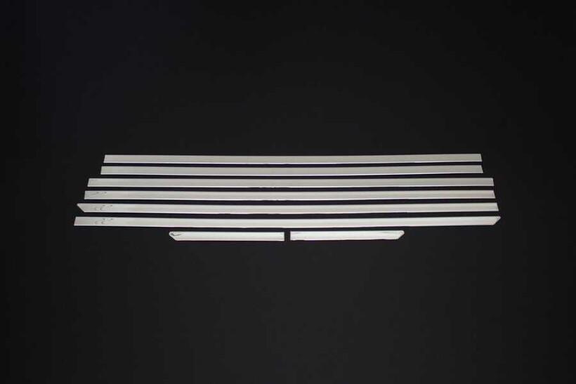 Krom Aksesuar » Omsa - Ford Tourneo Custom Krom Cam Alt Çıtası 8 Parça Uzun Şase 2012 ve Sonrası