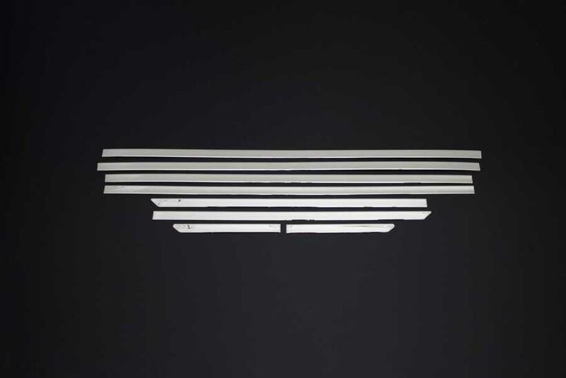 Krom Aksesuar » Omsa - Ford Tourneo Custom Krom Cam Alt Çıtası 8 Parça Kısa Şase 2012 ve Sonrası