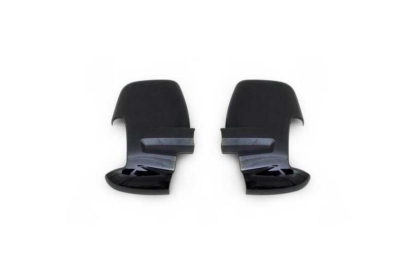Krom Aksesuar » Omsa - Ford Transit Siyah Krom Ayna Kapağı 2 Parça 2014 ve Sonrası