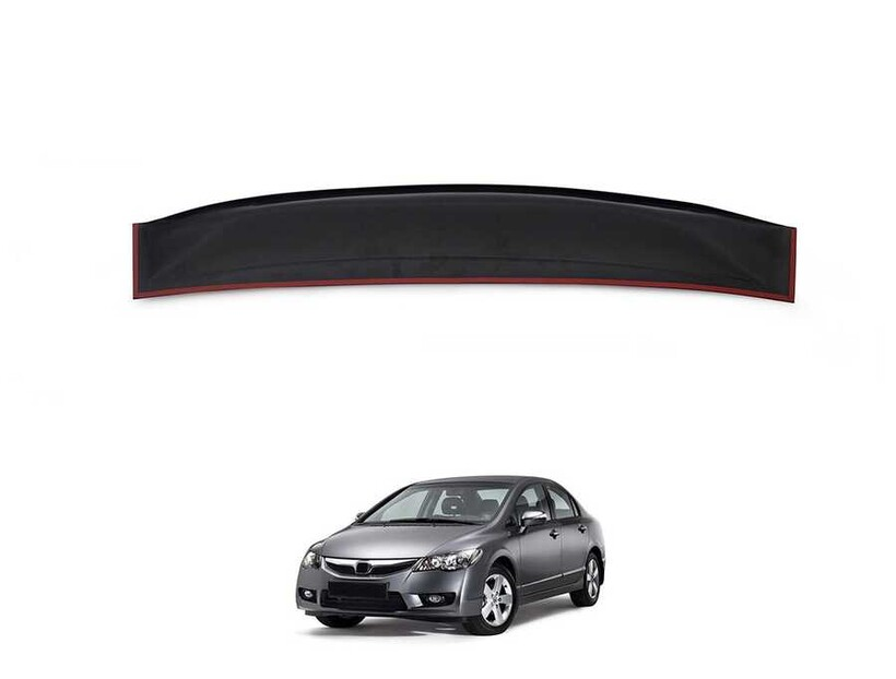 Body Kit » Plastik - Honda Civic FD6 Cam Üstü Spoiler (İnce Model) Piano Black 2006-2012 Arası