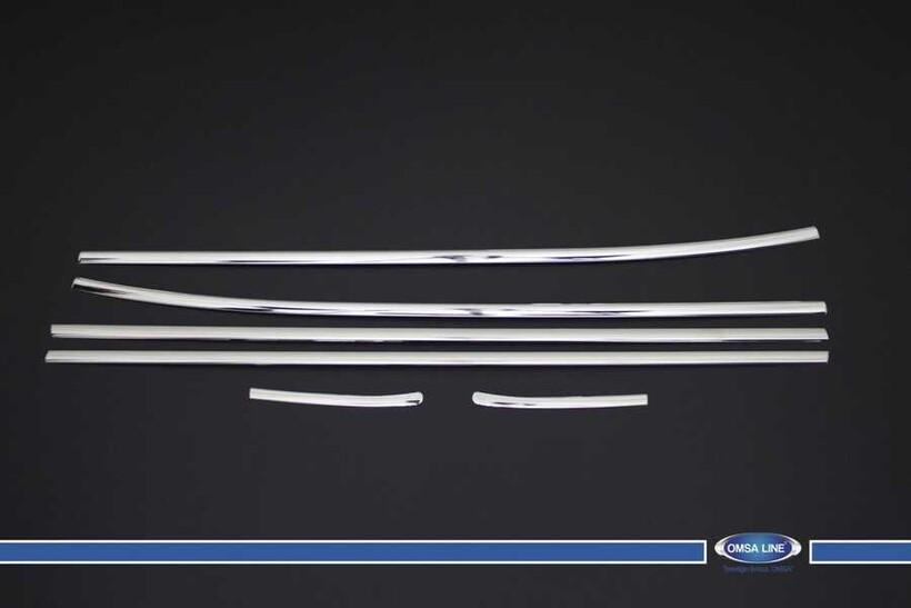 Krom Aksesuar » Omsa - Hyundai Accent Blue Krom Cam Çıtası 6 Parça 2011 ve Sonrası