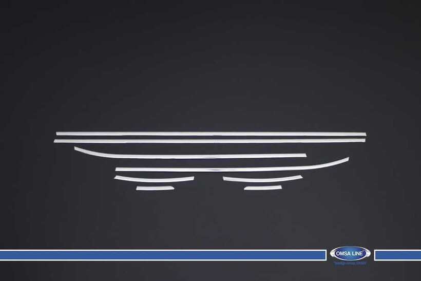 Krom Aksesuar » Omsa - Hyundai i10 Krom Cam Çıtası 8 Parça 2013 ve Sonrası