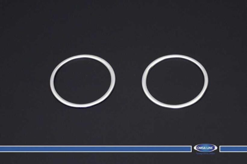 Krom Aksesuar » Omsa - Hyundai i10 Krom Gündüz Farı Çerçevesi 2 Parça 2016 ve Sonrası