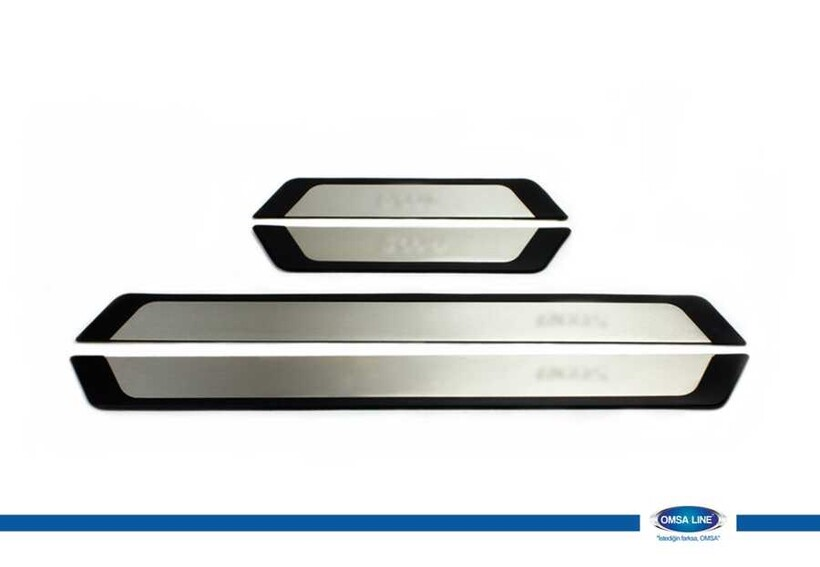 Krom Aksesuar » Omsa - Hyundai i20 Flexill Line Kapı Eşiği 4 Parça 2012-2014 Arası