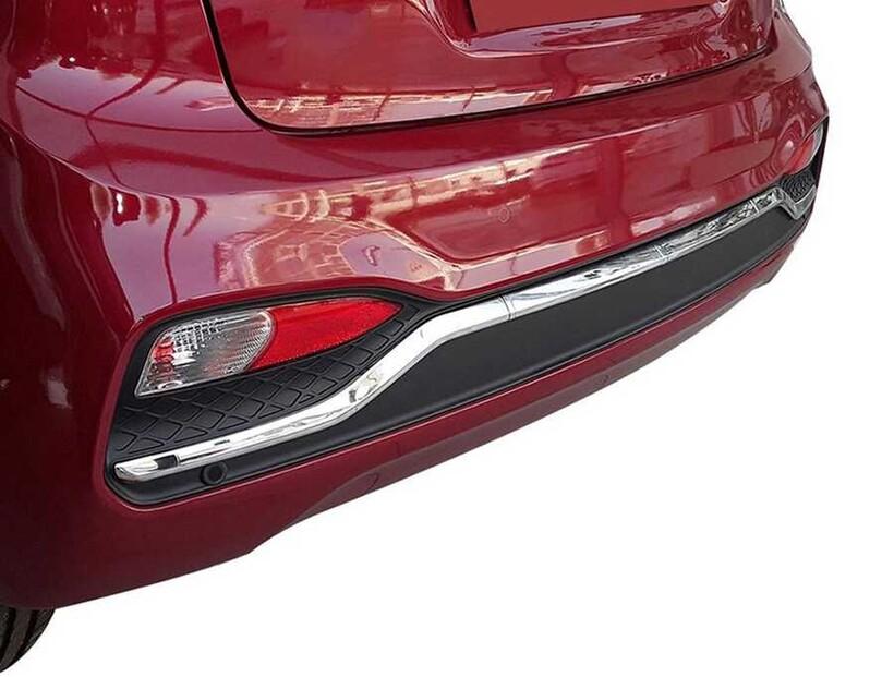 Krom Aksesuar » Omsa - Hyundai i20 Krom Arka Tampon Çıtası 3 Parça 2018-2020 Arası