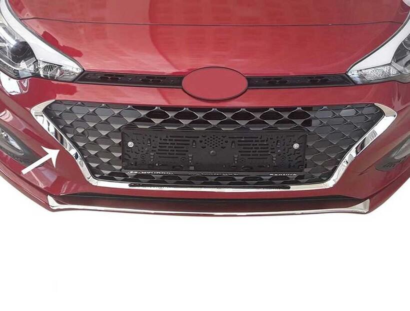 Krom Aksesuar » Omsa - Hyundai İ20 Krom Ön Panjur Çerçevesi 3 Parça 2018-2020 Arası