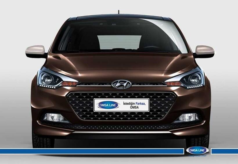 Krom Aksesuar » Omsa - Hyundai i20 Krom Ön Tampon Çıtası 2014 ve Sonrası