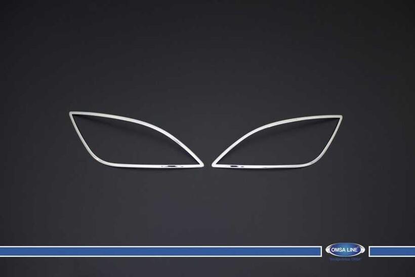 Krom Aksesuar » Omsa - Hyundai i20 Krom Sis Farı Çerçevesi 2 Parça 2012-2014 Arası
