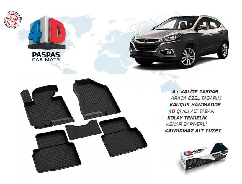4D Paspas - Hyundai İx35 4D Havuzlu Paspas Siyah 2010 ve Sonrası