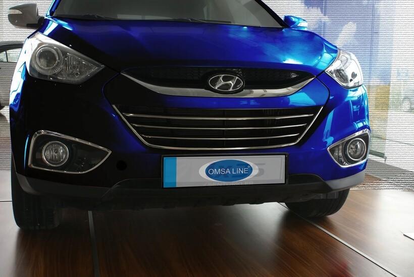 Krom Aksesuar » Omsa - Hyundai İx35 Krom Ön Panjur 4 Parça 2010-2015 Arası