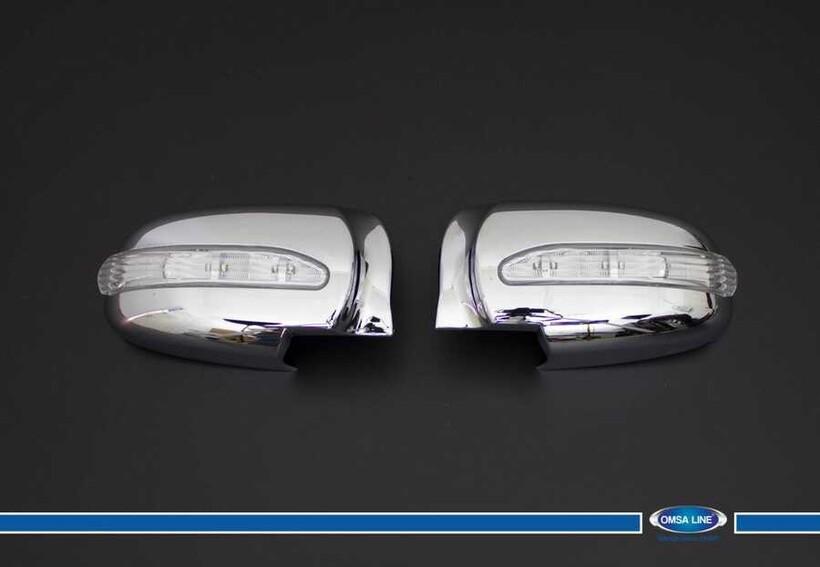 Krom Aksesuar » Omsa - Hyundai Sonata Krom Ayna Kapağı 2 Prç. Abs Ledli 2004-2008