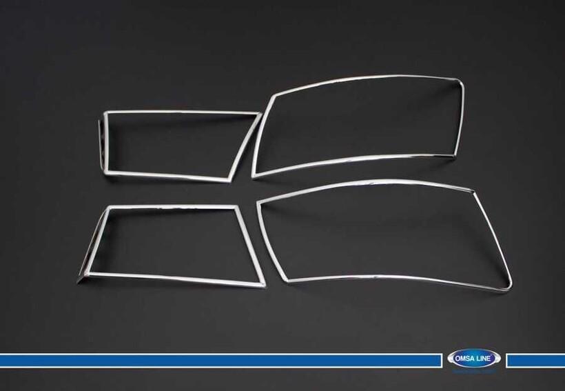 Krom Aksesuar » Omsa - Hyundai Sonata Krom Stop Çerçevesi 4 Parça Abs 2006-2012 Arası