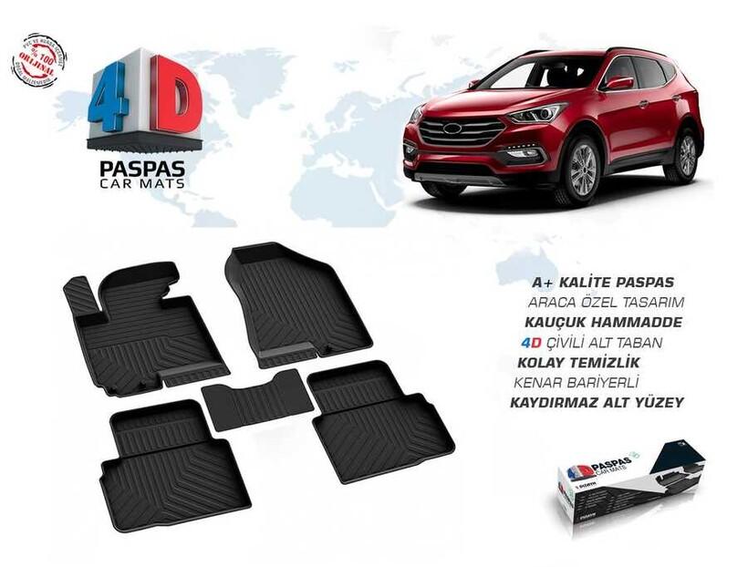 4D Paspas - Hyundai Tucson 4D Havuzlu Paspas Siyah 2015 ve Sonrası