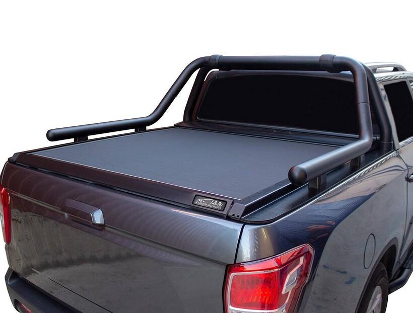 Rollback - Isuzu D-Max Omback Sürgülü Bagaj Kapama Siyah 2005-2012 Arası