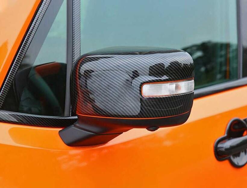 Karbon Aksesuarlar - Jeep Renegade Karbon Ayna Kapağı 2 Parça 2014 ve Sonrası