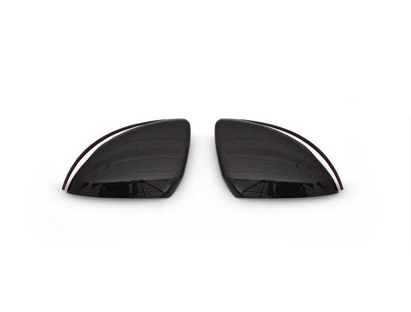 Karbon Aksesuarlar - Mercedes C Class W205 Karbon Ayna Kapağı 2 Parça 2015 ve Sonrası