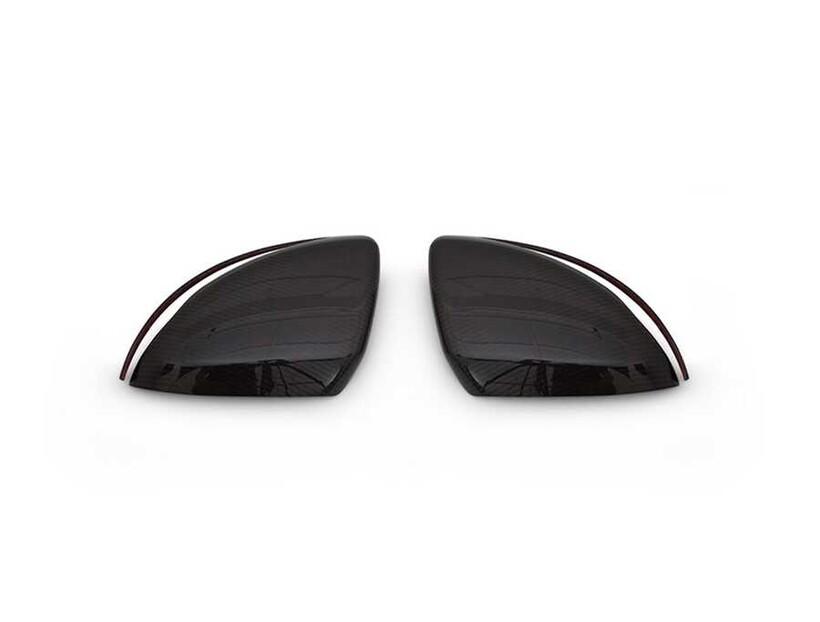 Karbon Aksesuarlar - Mercedes S Class W222 Karbon Ayna Kapağı 2 Parça 2014 ve Sonrası