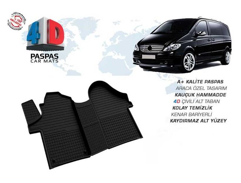 4D Paspas - Mercedes Viano 4D Havuzlu Paspas Siyah 2003-2015 Arası
