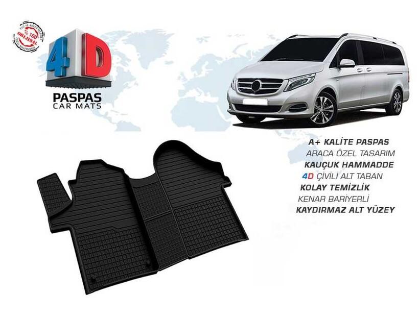 4D Paspas - Mercedes Vito W447 4D Havuzlu Paspas Siyah 2015 ve Sonrası