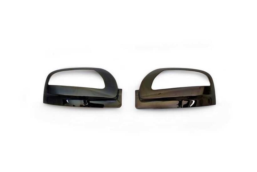 Krom Aksesuar » Omsa - Mercedes Vito/W639 Facelift Siyah Krom Ayna Kapağı 2 Parça Sinyalli 2010-2014 Arası