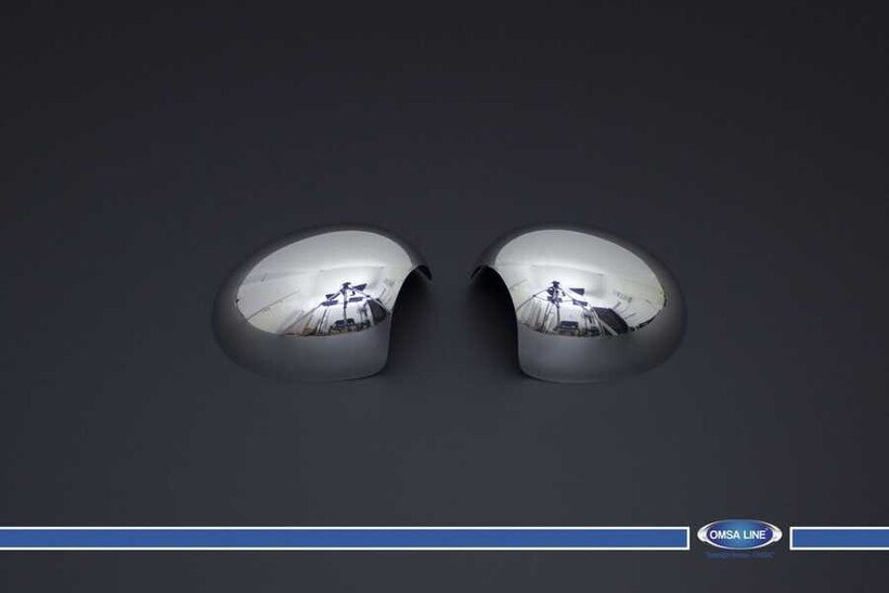 Krom Aksesuar » Omsa - Mini Clubman R55 Krom Ayna Kapağı 2 Parça 2007-2014 Arası