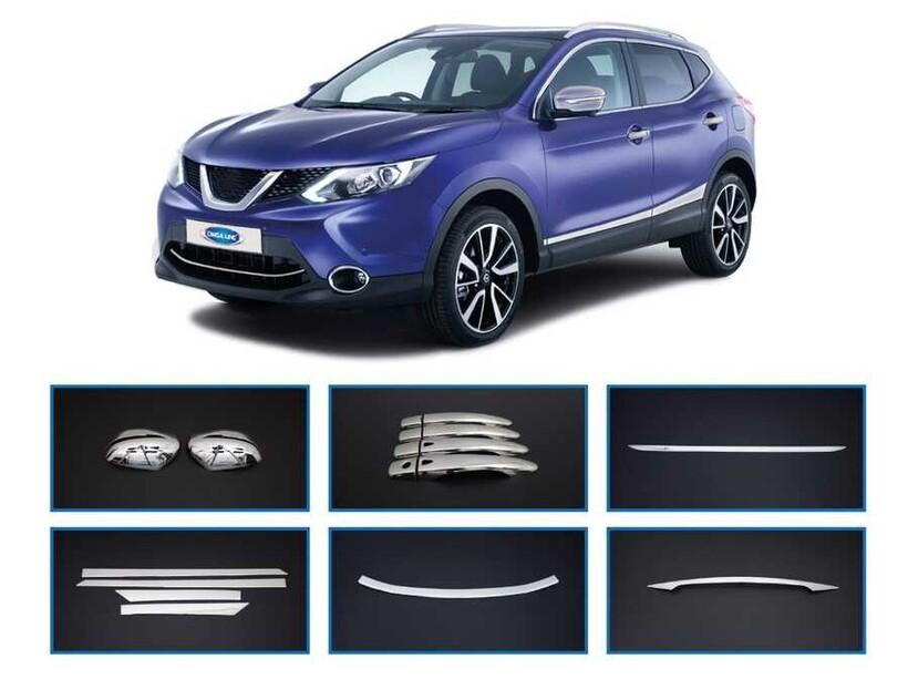 Krom Aksesuar » Omsa - Nissan Qashqai 6 Takım Krom Set 2014 ve Sonrası