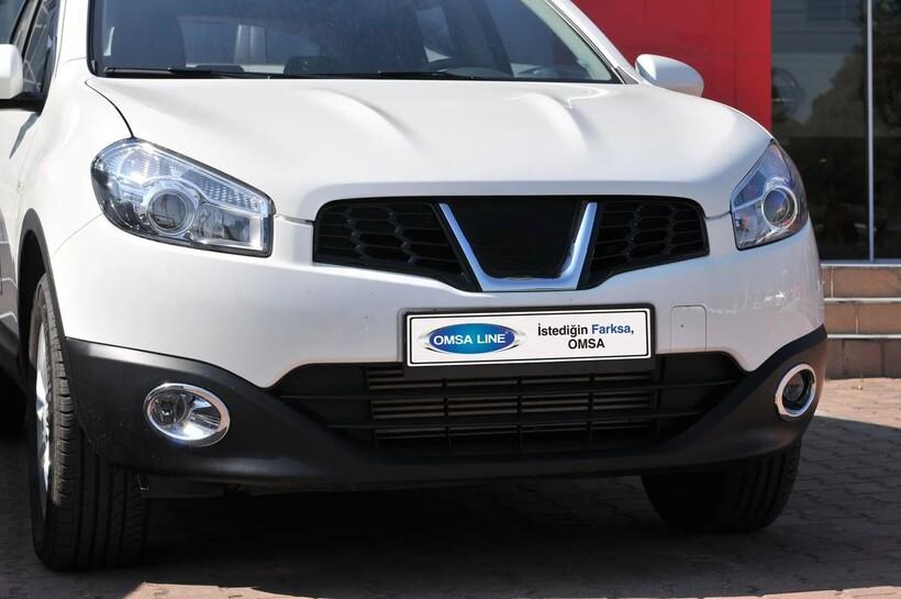 Krom Aksesuar » Omsa - Nissan Qashqai Krom Sis Farı Çerçevesi 2 Parça Abs 2010-2014 Arası