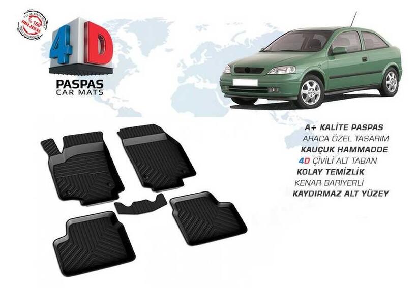 4D Paspas - Opel Astra G 4D Havuzlu Paspas Siyah 1998-2003 Arası