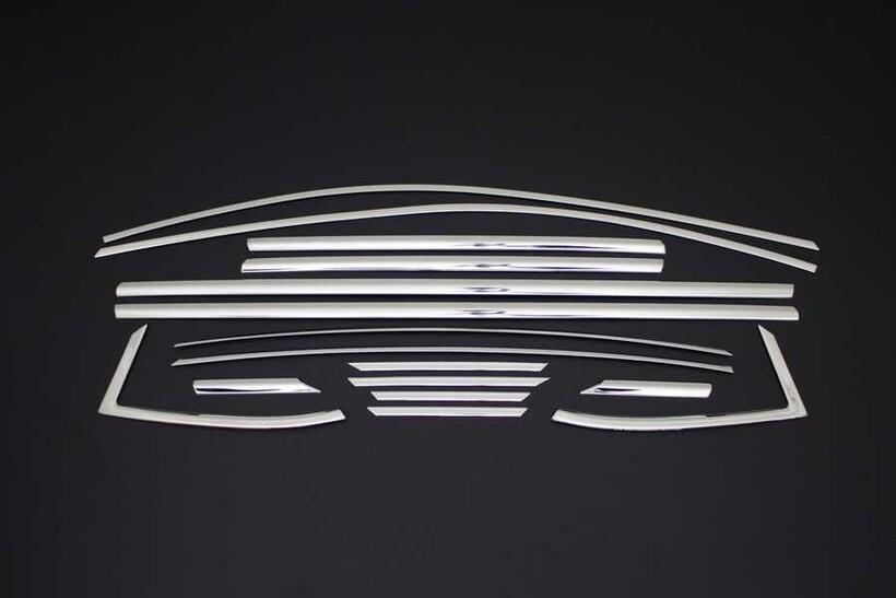 Krom Aksesuar » Omsa - Opel Astra K Krom Cam Çerçevesi 16 Parça 2015 ve Sonrası