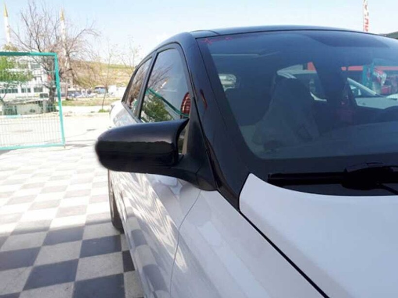 Body Kit » Plastik - Opel Astra K Yarasa Ayna Kapağı Batman Piano Siyah ABS 2015 ve Sonrası