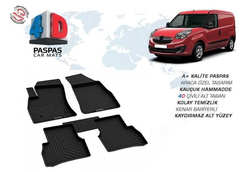 4D Paspas - Opel Combo D 4D Havuzlu Paspas Siyah 2010-2018 Arası