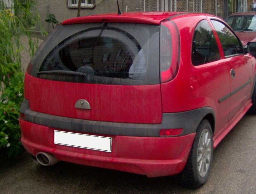 Body Kit » Fiber - Opel Corsa C Spoiler 2004-2007
