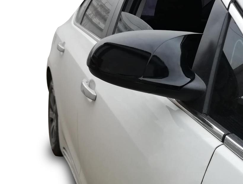 Body Kit » Plastik - Opel Corsa E Yarasa Ayna Kapağı Batman Piano Siyah Abs 2014-2019 Arası
