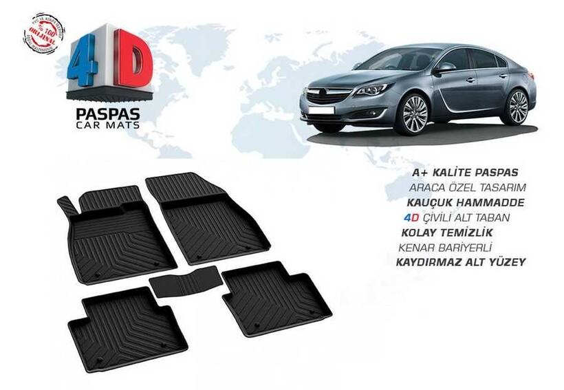 4D Paspas - Opel İnsignia 4D Havuzlu Paspas Siyah 2008-2016 Arası